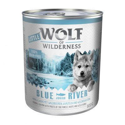 Wolf of Wilderness: 12 kg Trockenfutter + 6 x 400 g / 6 x 800 g Nassfutter