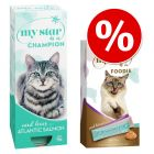 10 x 90g My Star Wet Cat Food + My Star Creamy Snack Pack - Bundle Pack!*