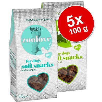 5 x 100 g Set zoolove Soft Snack
