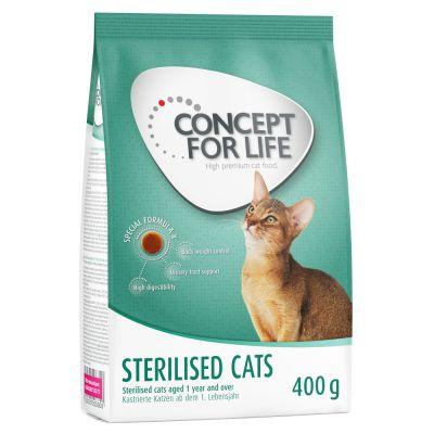 12 x 85 g umido Concept for Life + 400 g secco gratis!