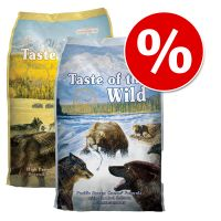 2 x 6 kg! 12 kg Taste of the Wild - Combipakket