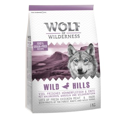 5 x 1kg Wolf of Wilderness Dry Dog Food Trial Pack - 4 + 1 Free!*