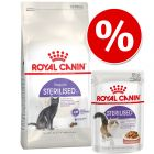 Zestaw Royal Canin Sterilised 3,5 / 4 kg + Royal Canin Sterilised w sosie, 12 x 85 g
