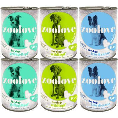 zoolove gemischtes Probierpaket Hundenassfutter